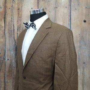 Brooks Brothers 346 Sport Coat Mens 42R Wool Tan